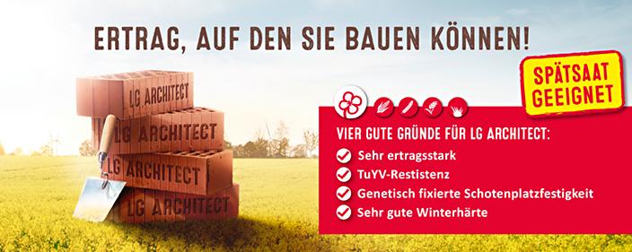 lg architect rapsertrag auf den sie bauen k nnen lg seeds deutschland. Black Bedroom Furniture Sets. Home Design Ideas